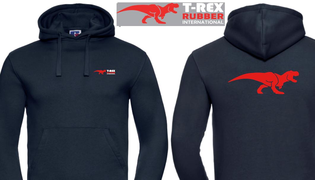 Navy hoodie bedrukt