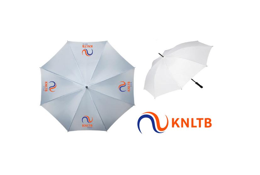 Gepersonaliseerde paraplu met logo