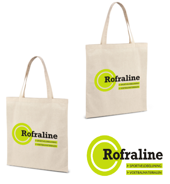 bedrukte Katoenen tas met logo